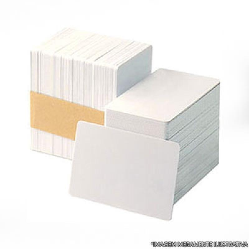 Cartão de Pvc Branco para Crachá Anália Franco - Cartão em Pvc Branco