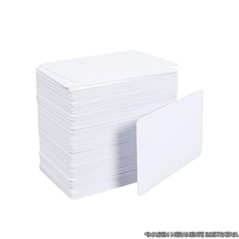 Cartão de Pvc para Crachá Vila Progredior - Cartão Pvc Branco
