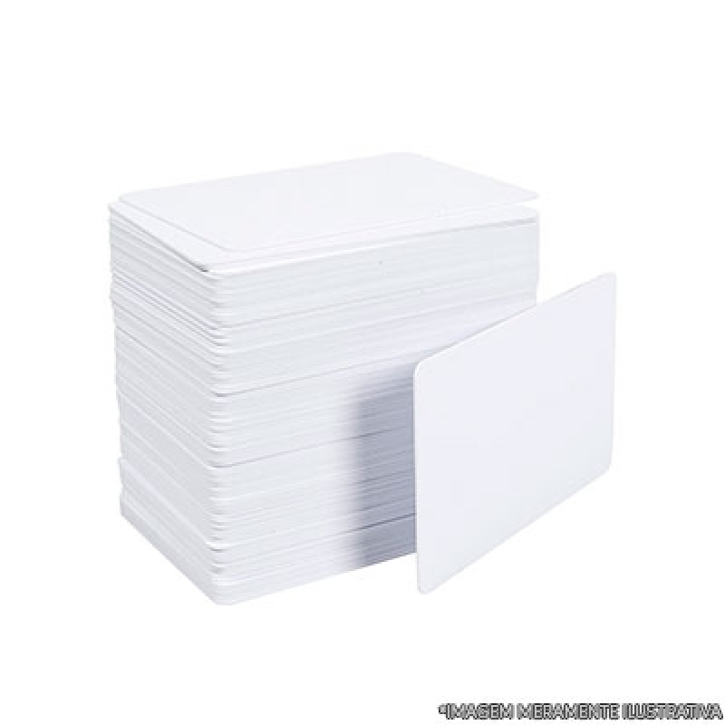 Cartão em Pvc Branco Atibaia - Cartão em Pvc