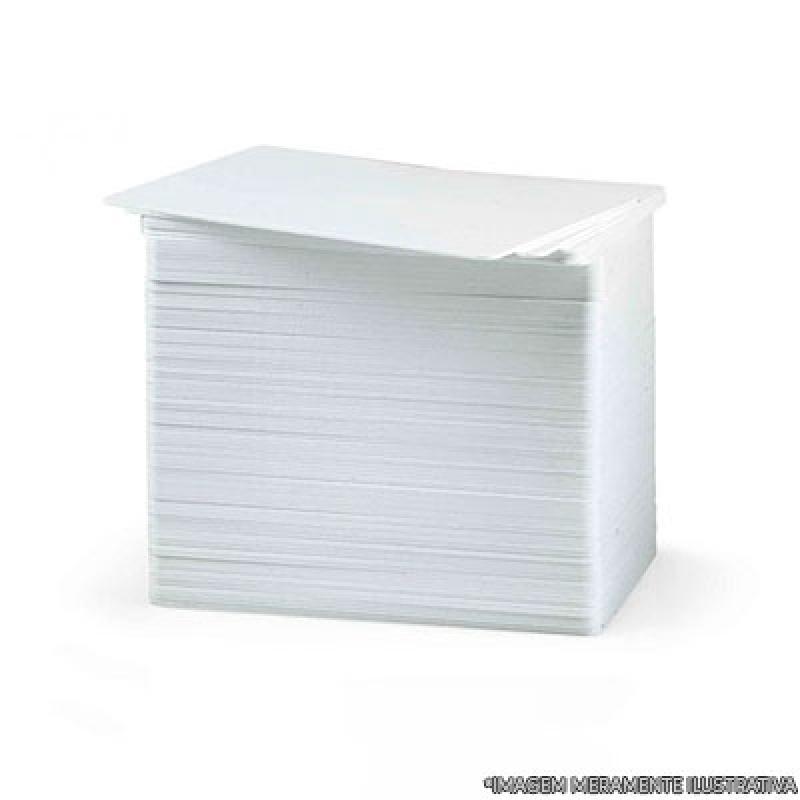 Cartão Pvc Branco para Crachá Heliópolis - Cartão Pvc para Crachá