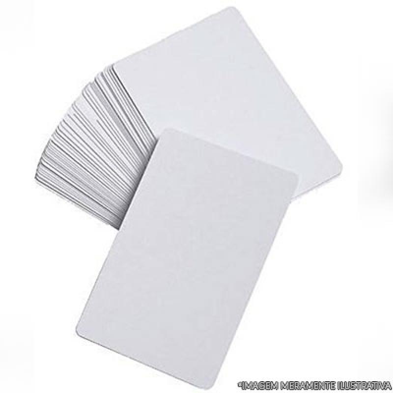 Cartão Pvc Branco Parelheiros - Cartão Pvc Branco