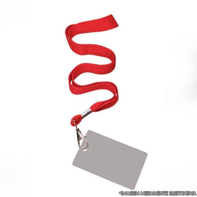 Cordão em Poliéster para Crachá Embu Guaçú - Cordão de Crachá