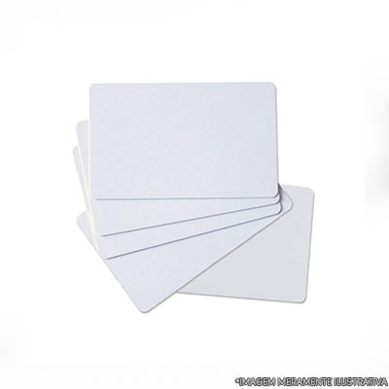 Procuro por Cartão Pvc Branco para Crachá Paulínia - Cartão Pvc Branco