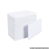 cartão em pvc branco Atibaia