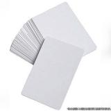 cartão pvc branco Parelheiros