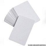 cartão pvc branco Mongaguá