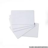 procuro por cartão pvc branco para crachá Paulínia
